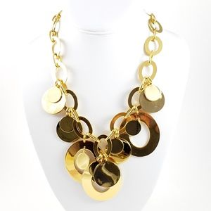 J. Crew Statement Necklace Gold Tone